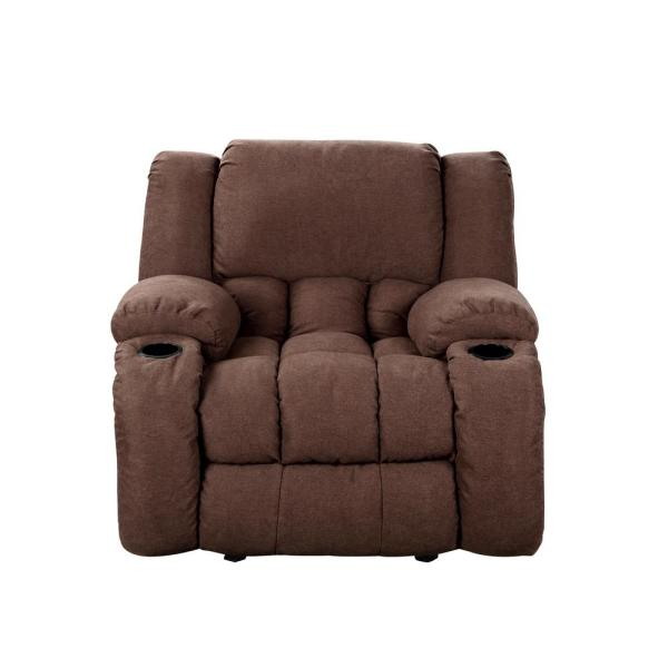 Chocolate Plush Microfiber Recliner 73040-96CH