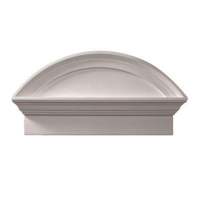 36 in. x 20 in. x 4-1/2 in. Polyurethane Combination Segment Arch Pediment