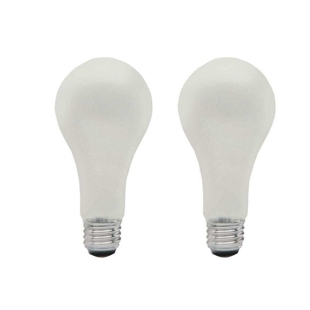 sylvania 50 watt 100 watt 150 watt incandescent a21 standard life 3 way light bulb 2 pack. Black Bedroom Furniture Sets. Home Design Ideas