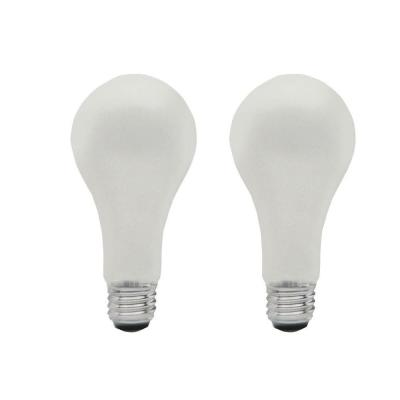 50-Watt 100-Watt 150-Watt Incandescent A21 Standard Life 3-Way Light Bulb (2-Pack)