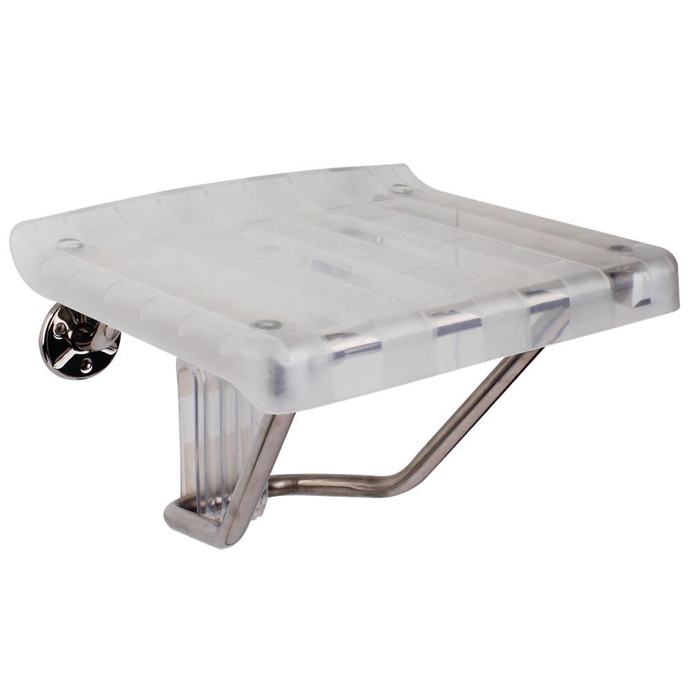 Fine Dreamline 13 125 In X 15 In Plastic Folding Shower Seat In Chrome Machost Co Dining Chair Design Ideas Machostcouk