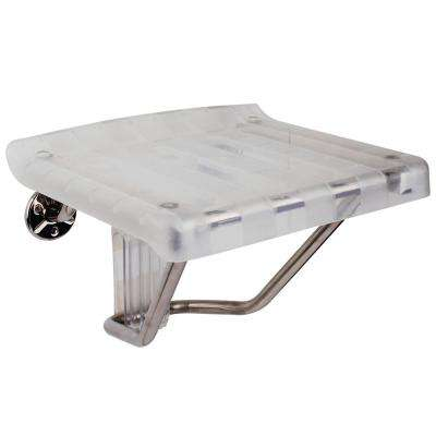 12 in. x 15 in. Plastic Folding Shower Seat in Chrome