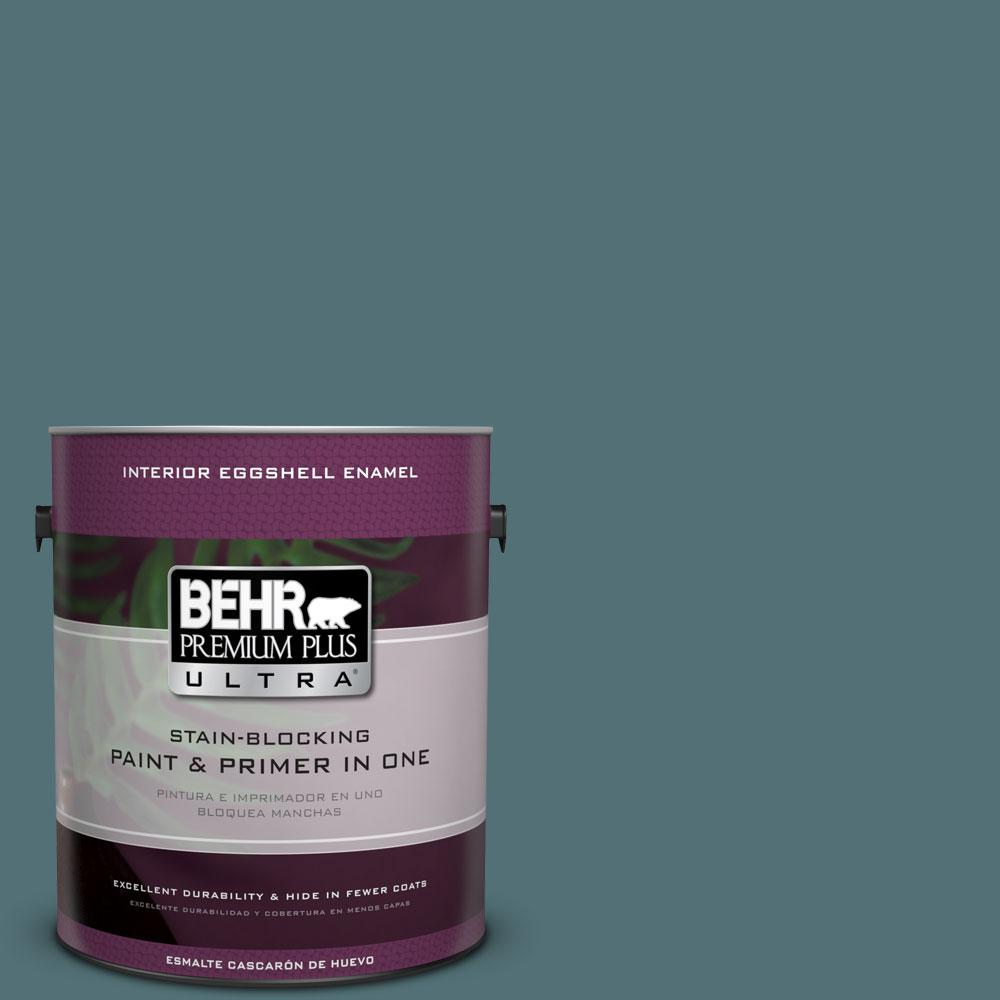 BEHR Premium Plus Ultra Home Decorators Collection 1 gal. #HDC-CL-22 Sophisticated Teal Eggshell Enamel Interior Paint