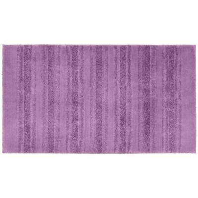 Essence Purple 30 in. x 50 in. Washable Bathroom Accent Rug
