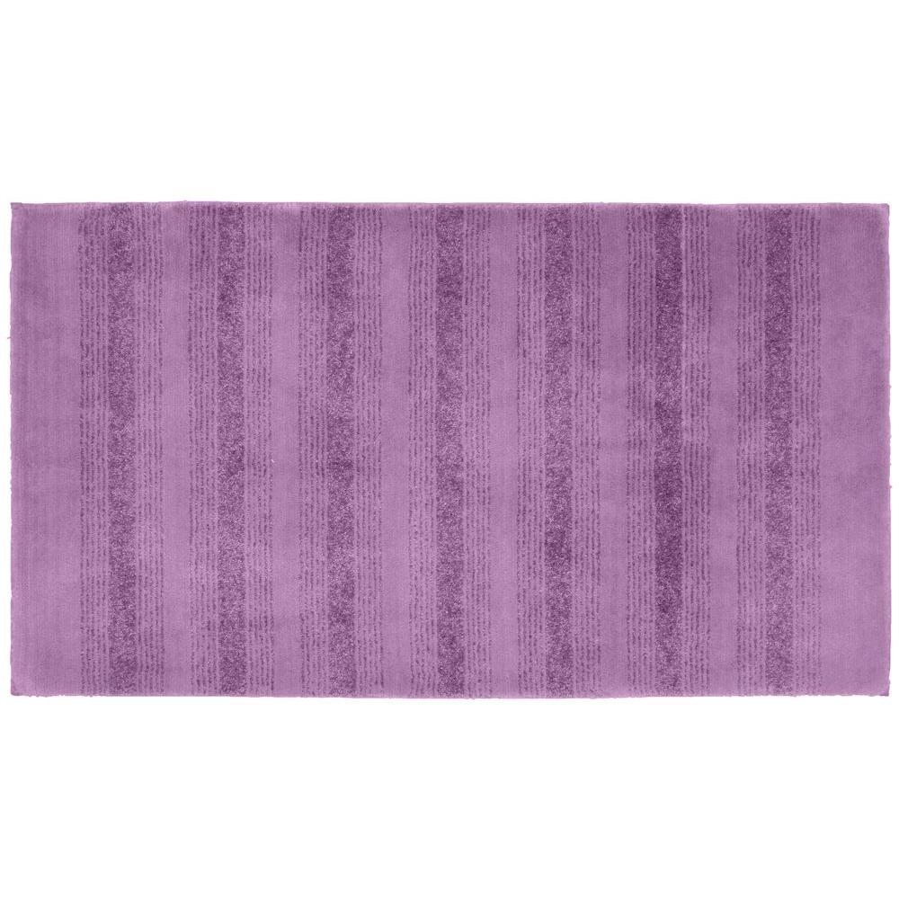 Garland Rug Essence Purple 30 in. x 50 in. Washable Bathroom Accent Rug
