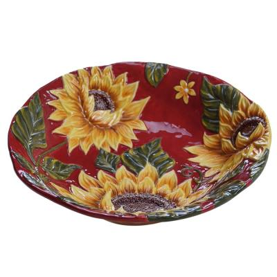 Sunset Sunflower 96 oz. Serving Bowl