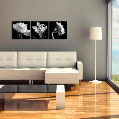 """18 in. x 54 in. """"Flower Triptych"""" by Michael Harrison Printed Canvas Wall Art"""