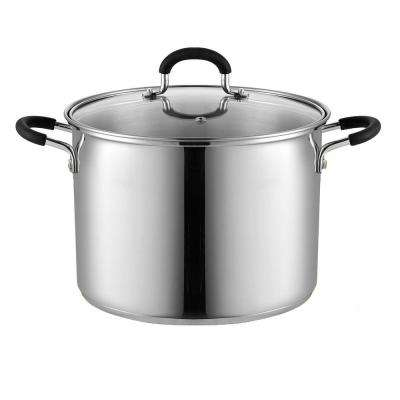 8 Qt. Stainless Steel Stockpot Saucepot with Lid