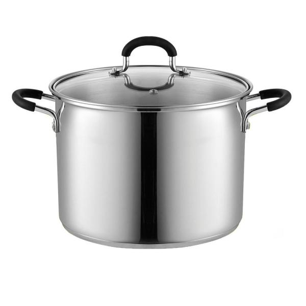 Cook N Home 8 Qt. Stainless Steel Stockpot Saucepot with Lid