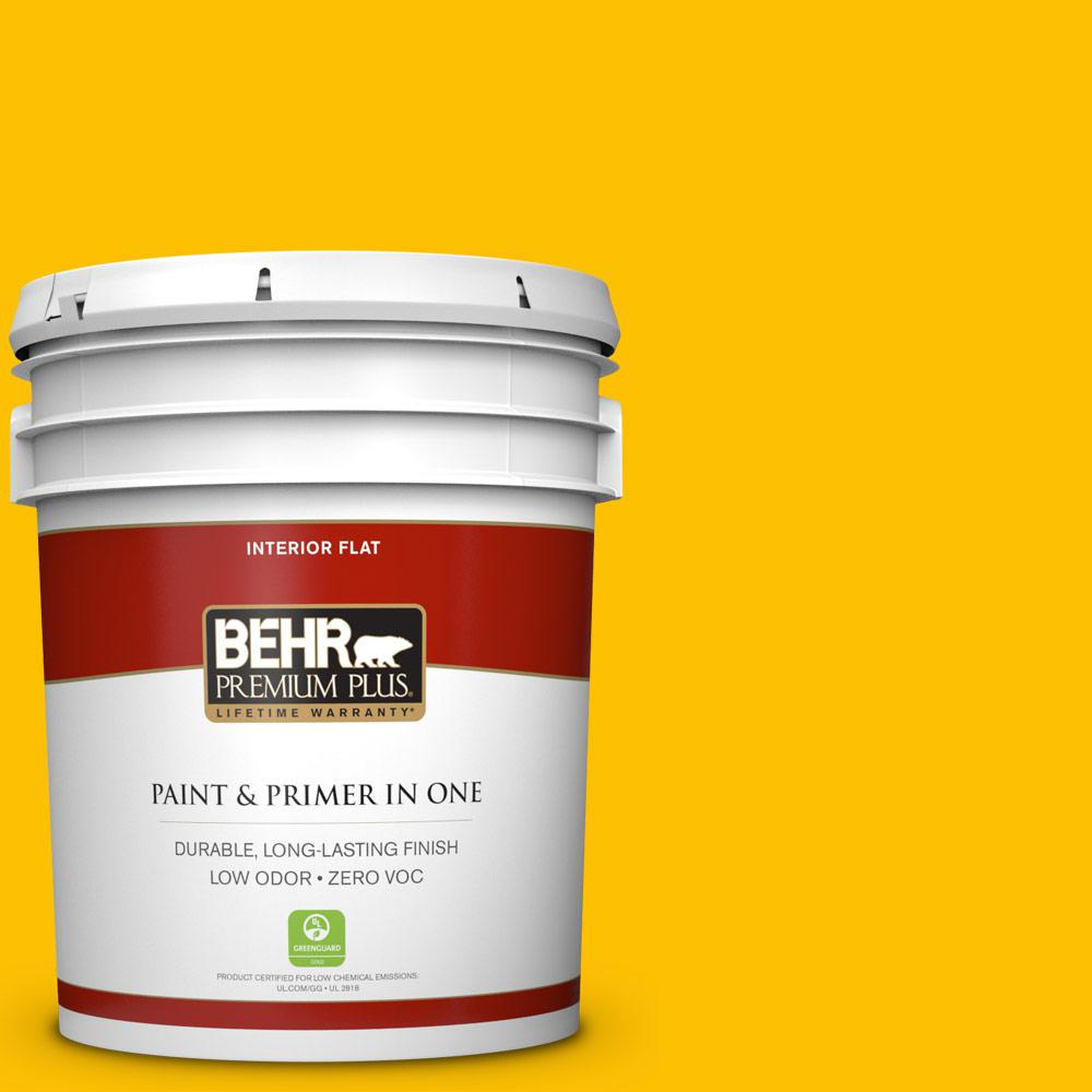 5 gal. #360B-7 Center Stage Zero VOC Flat Interior Paint