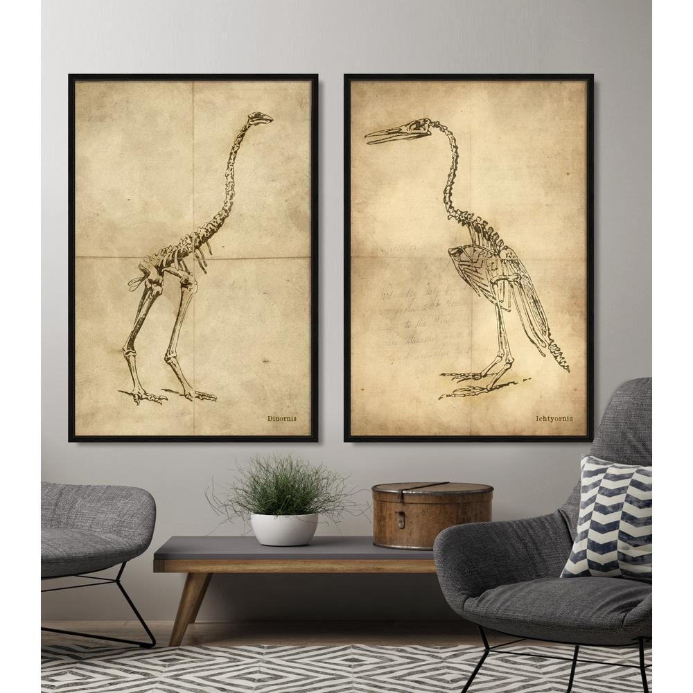 bathroom wall decor hise 26 in x 38 in quot dinornis quot framed giclee 13384