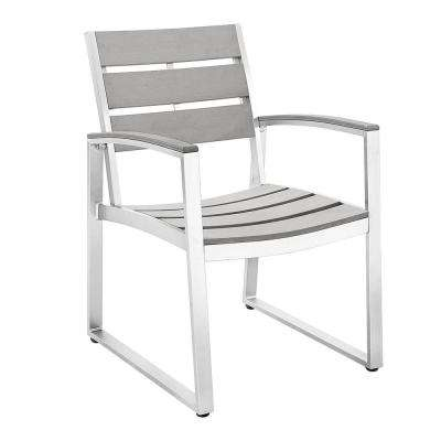 All-Weather Grey Patio Dining Chairs (Set of 2)