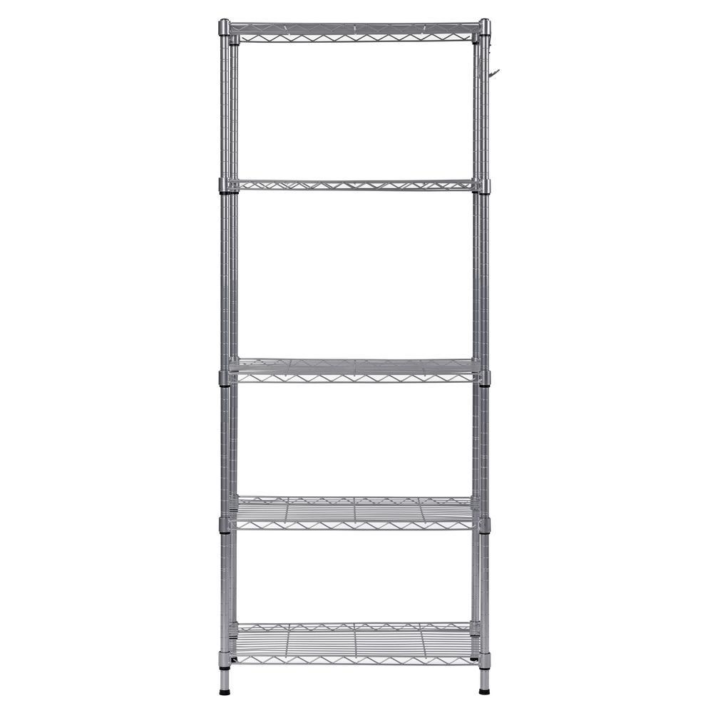 Muscle Rack 59 in. H x 24 in. W x 14 in. D 5-Shelf Wire Commercial Shelving Unit