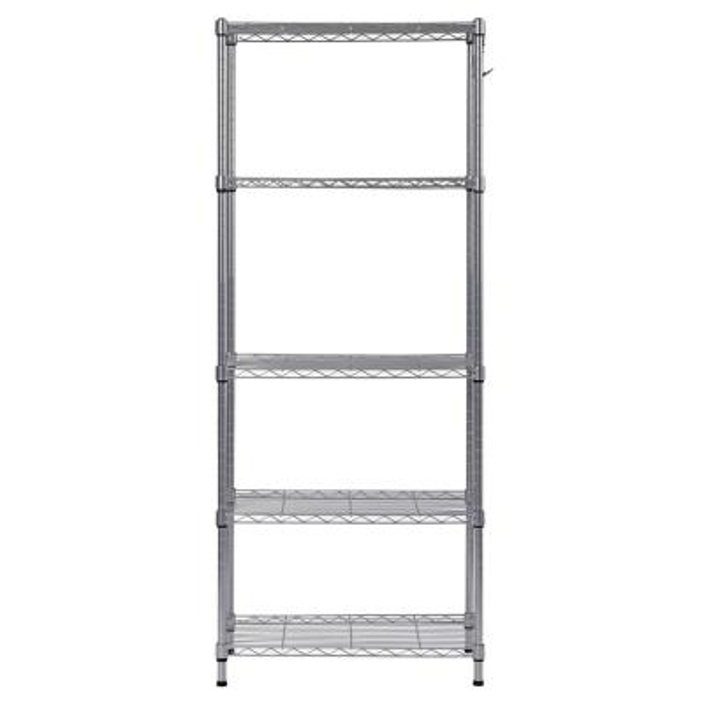 59 in. H x 24 in. W x 14 in. D 5-Shelf Wire Commercial Shelving Unit