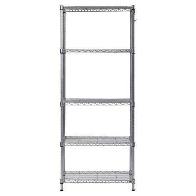 59 in. H x 24 in. W x 14 in. D 5-Shelf Wire Commercial Shelving Unit