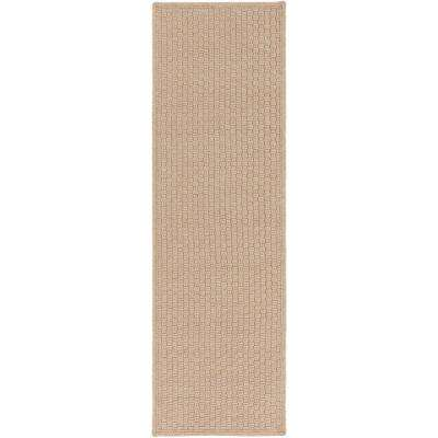 Caswell Taupe 3 ft. x 8 ft. Indoor/Outdoor Runner Rug