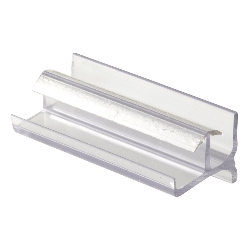 Prime Line Tub Enclosure Bottom Guide Workright Products Clear Plastic Snap In M 6144 The Home Depot