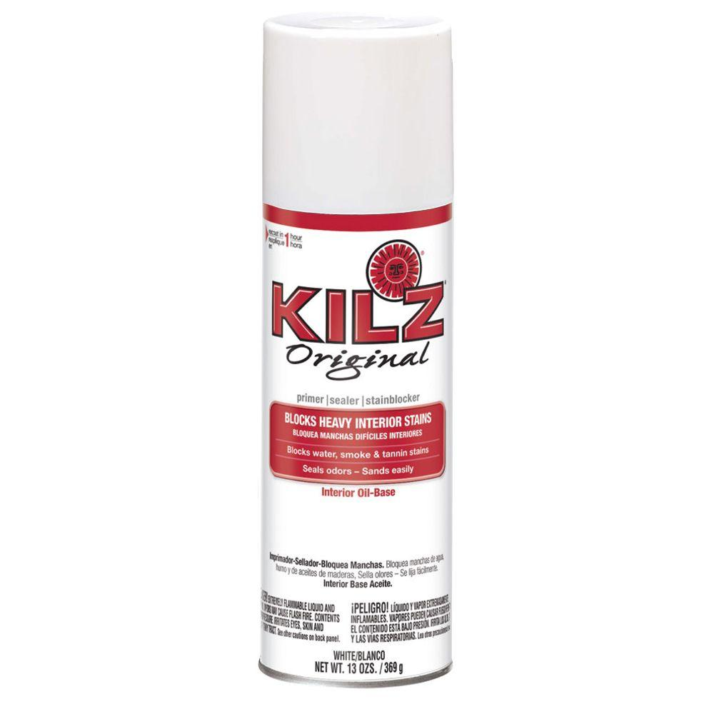 KILZ 13 oz. White Oil-Based Interior Primer, Sealer and Stain-Blocker Aerosol