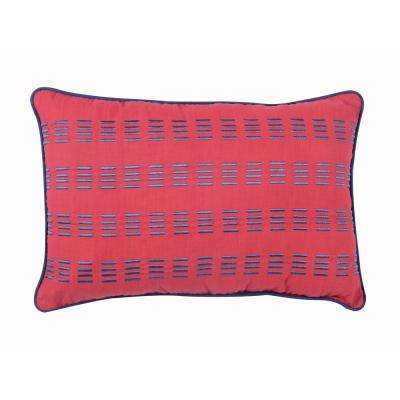 Preppy Plaid Oblong Pillow