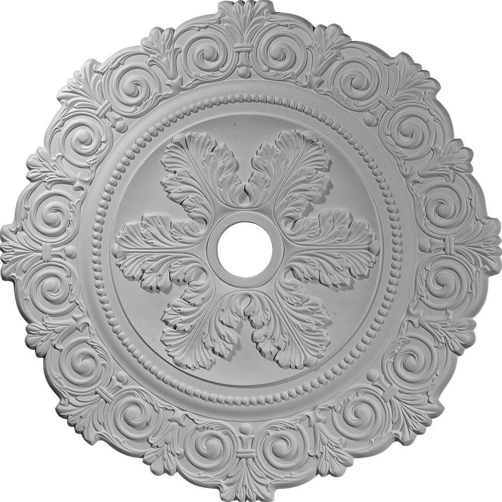 Ekena Millwork 33-1/4 in. Scroll Ceiling Medallion