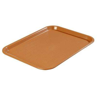 12 in. x 16 in. Polypropylene Serving/Food Court Tray in Light Brown (Case of 24)