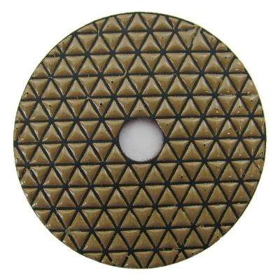 4 in. #1500 Grit Dry Diamond Polishing Pad for Stone