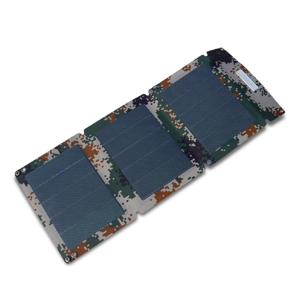 15-Watt Off-Grid Foldable Flexible Solar Charger Kit Camouflage