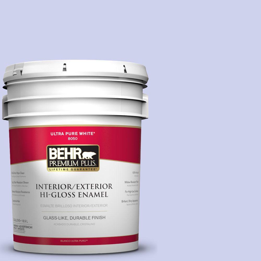 BEHR Premium Plus 5-gal. #P550-2 Artistic Violet Hi-Gloss Enamel Interior/Exterior Paint