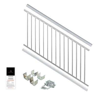 Powder Coated Aluminum Deck Stair Railing 36 in. x 6 ft. - White