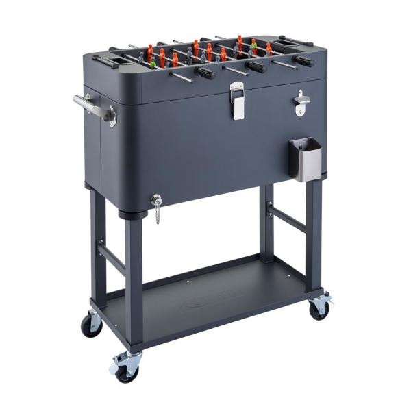 80 qt Detachable Tub Foosball Cooler w/ Cover Gray