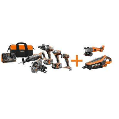 18-Volt GEN5X Cordless Lithium-Ion Combo Kit (7-Tool) with (2) 4.0Ah HYPER Lithium-Ion Batteries, Charger and Bag