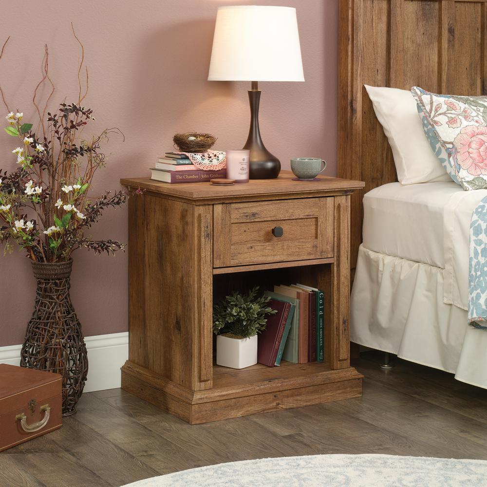 New Grange 1-Drawer Vintage Oak Nightstand