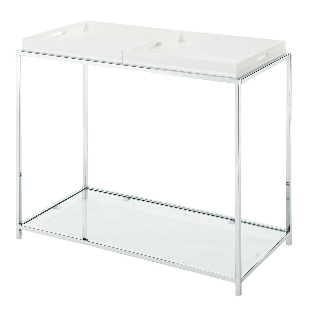 Palm Beach White Console Table