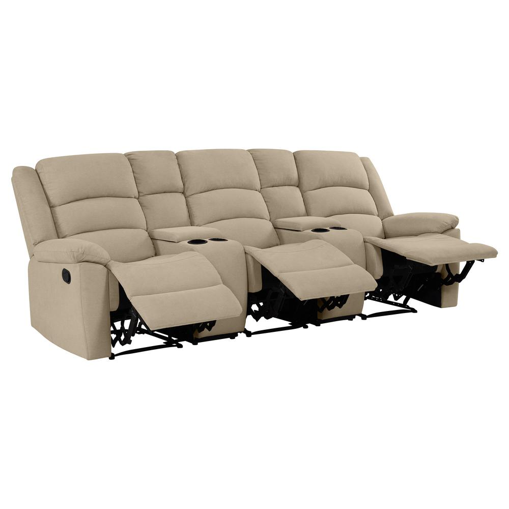 Prolounger 3 Seat Wall Hugger Recliner Sofa With 2 Storage
