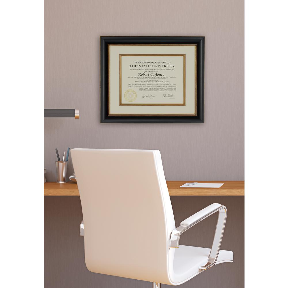 Pinnacle 1 Opening 12 In X 15 In Matted Document Picture Frame