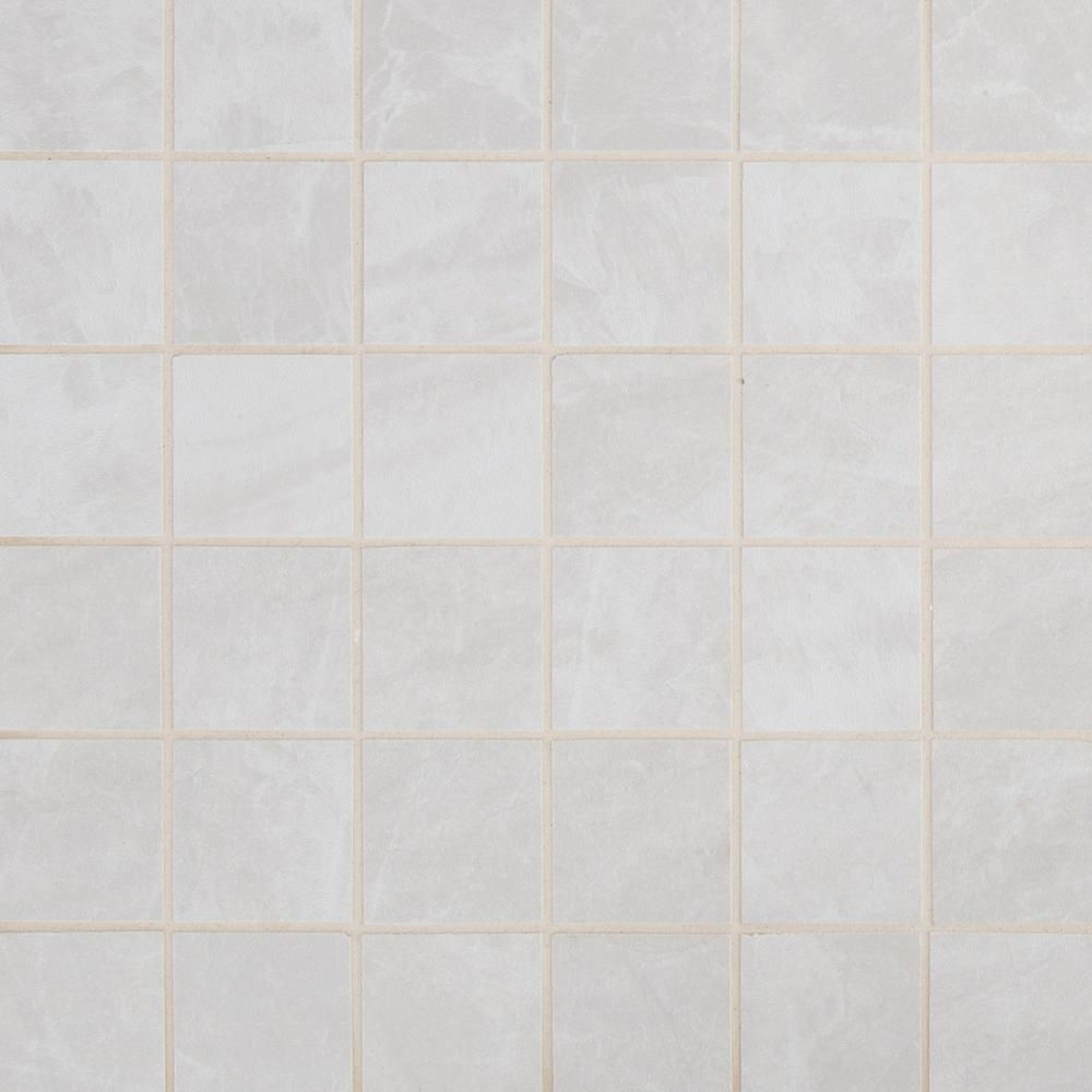 MSI Praia Grey 12 in. x 12 in. x 9mm Glazed Porcelain Mesh Mounted Mosaic Tile (8 sq. ft./case)