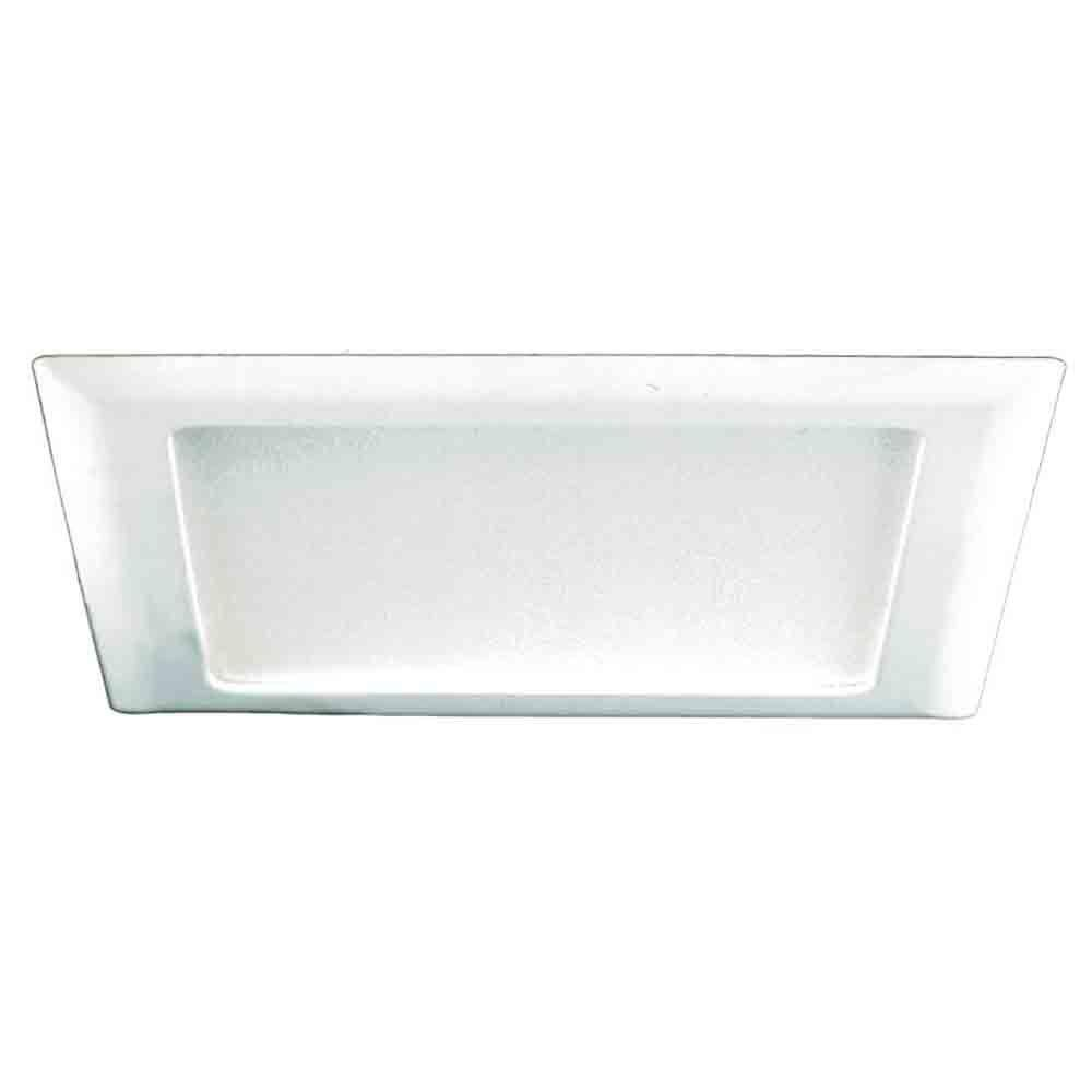 white recessed ceiling light square trim with glass albalite lens