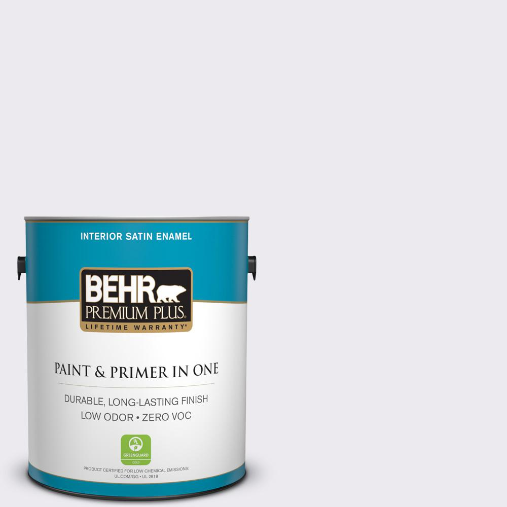 1-gal. #630A-1 Amethyst Cream Zero VOC Satin Enamel Interior Paint