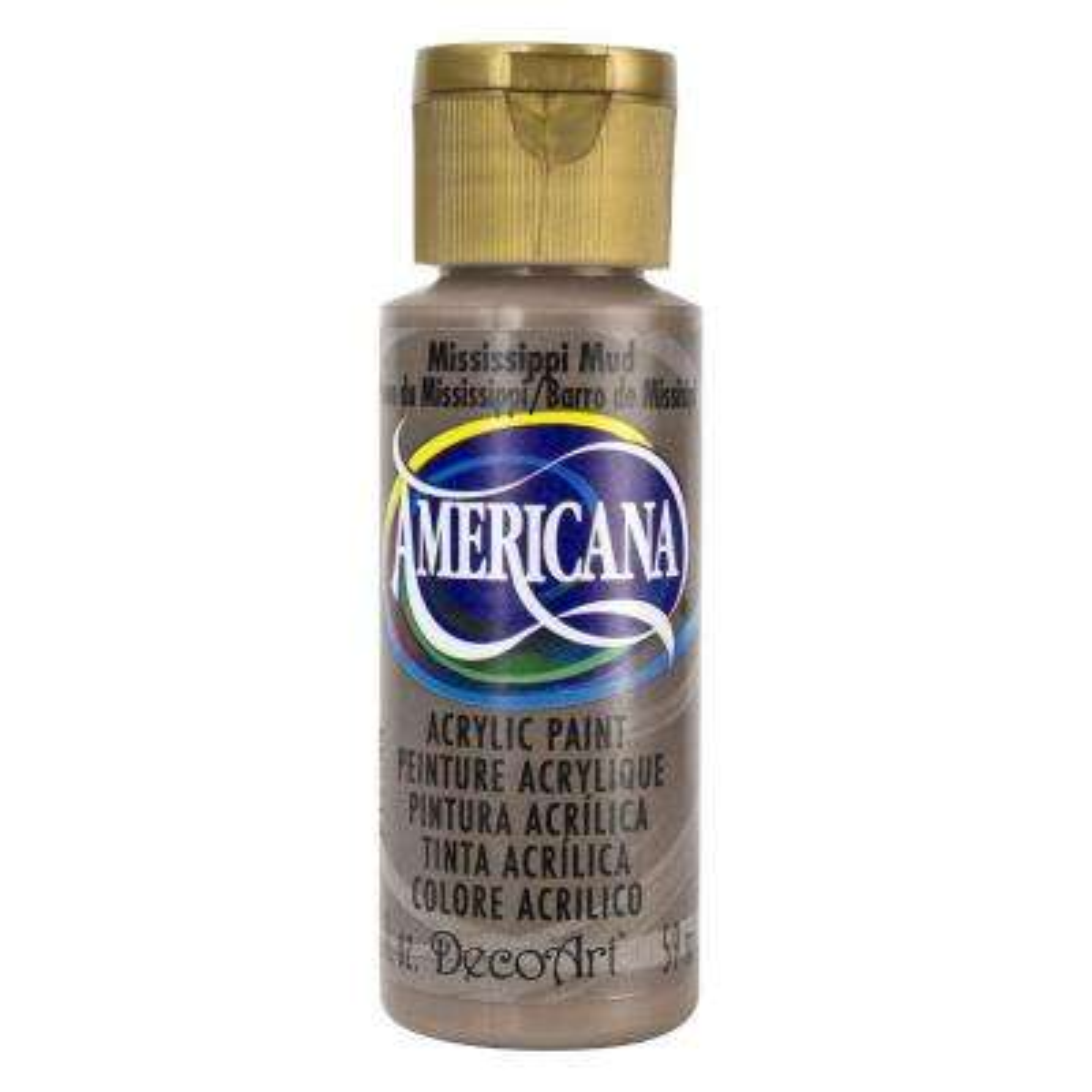 Americana 2 oz. Mississippi Mud Acrylic Paint