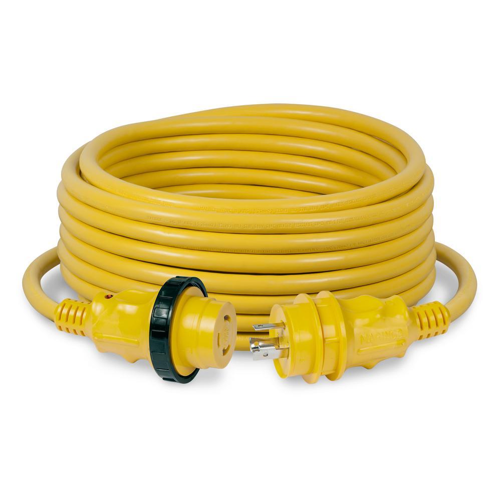 30 Amp 50 ft. Power Cordset, Yellow