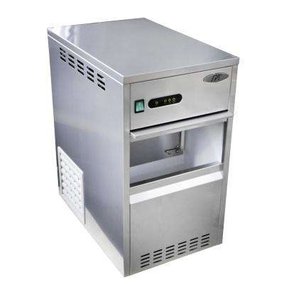 88 lb. Freestanding Flake Ice Maker in Stainless Steel