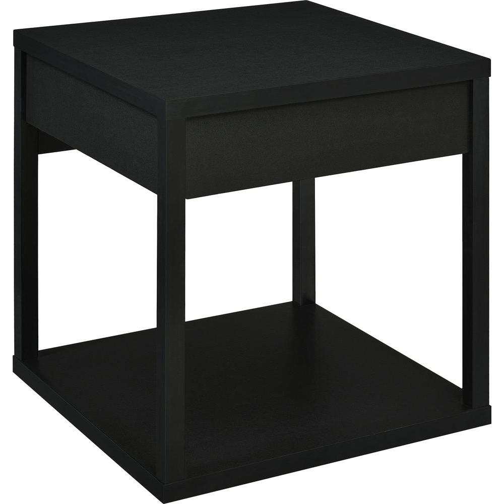 Ameriwood Nelson Black End Table Hd66031 The Home Depot