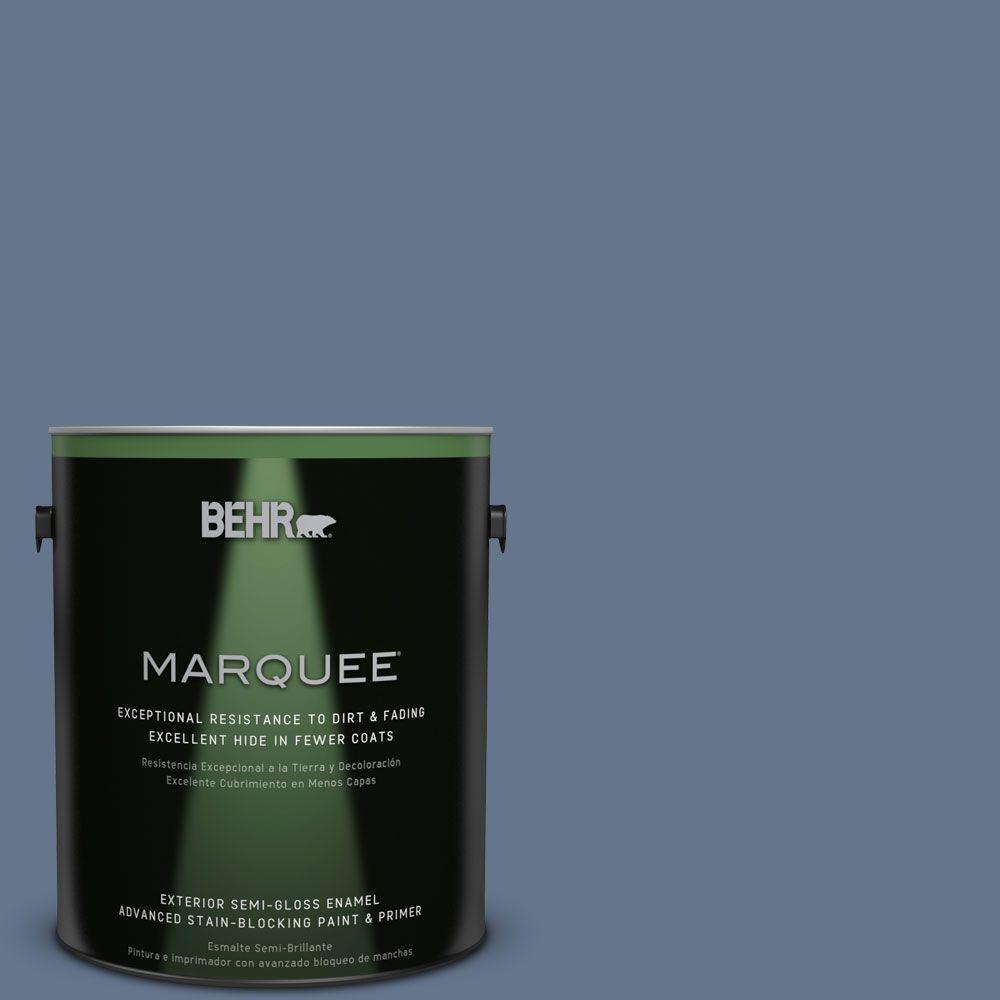 BEHR MARQUEE 1-gal. #BXC-75 Saltbox Blue Semi-Gloss Enamel Exterior Paint