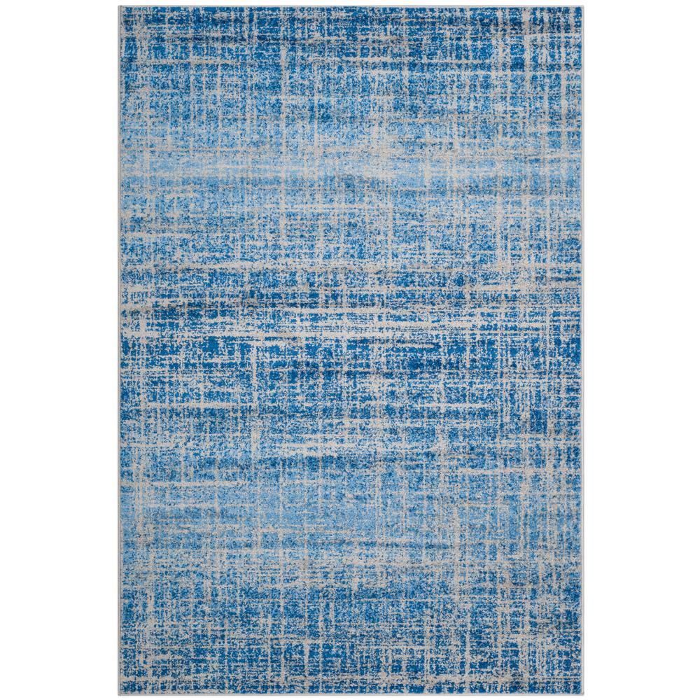 Adirondack Blue/Silver 9 ft. x 12 ft. Area Rug