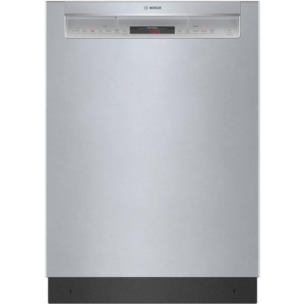800 Series 24 in. Stainless Steel Front Control Recessed Handle Dishwasher with Stainless Steel Tub,CrystalDry, 42dBA