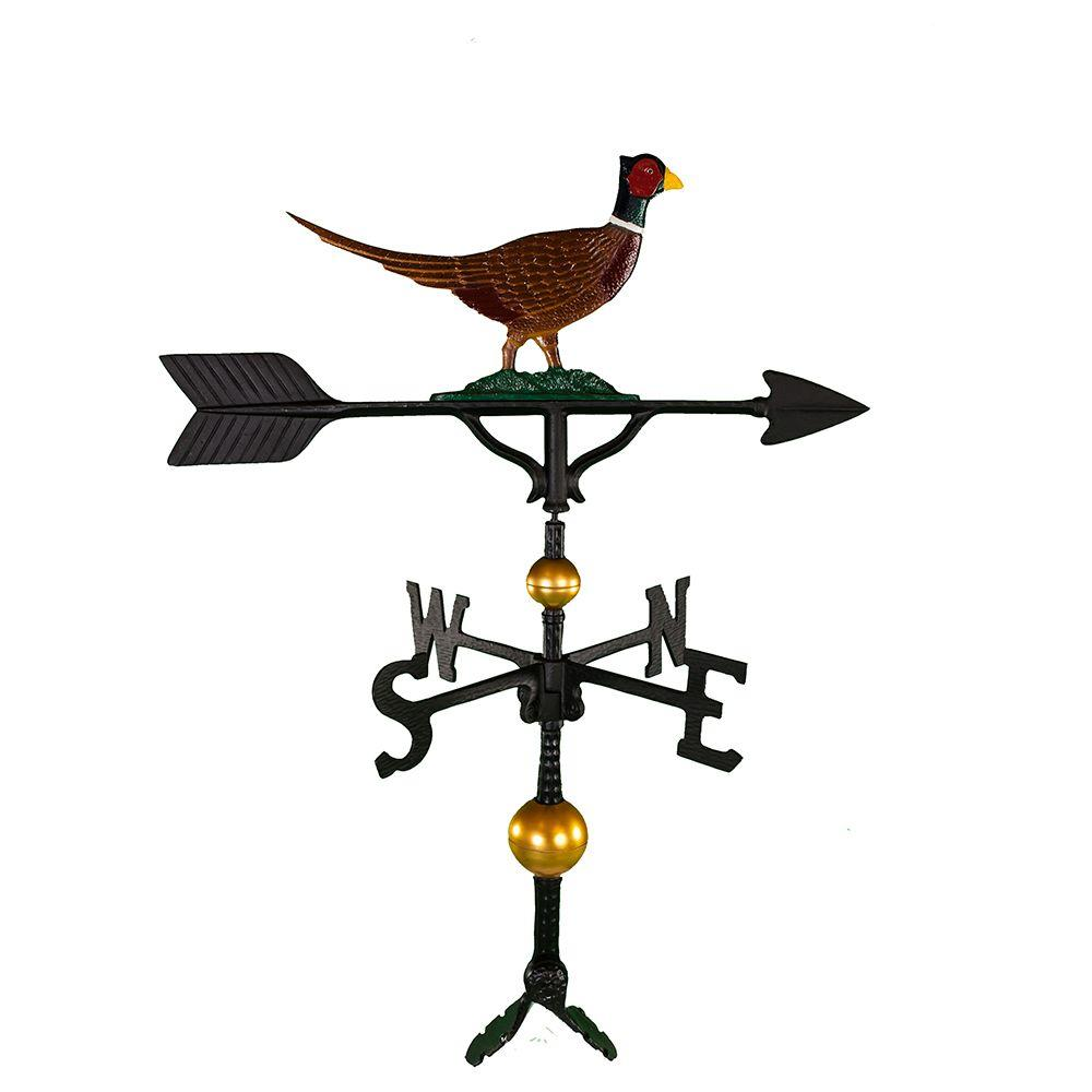 32 in. Deluxe Black Pheasant Weathervane