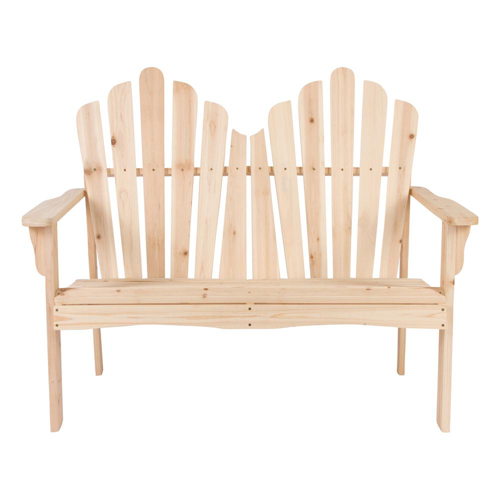 Shine Company Westport Cedar Wood Outdoor Loveseat Bench 43 50 In Natural