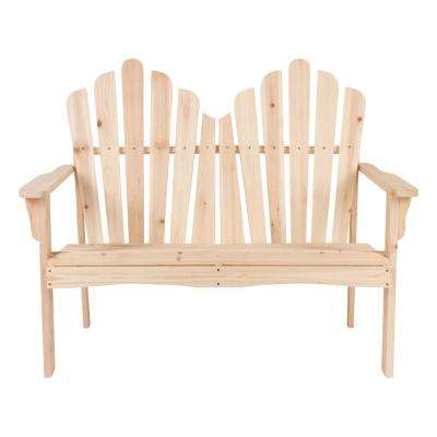 Westport Cedar Wood Outdoor Loveseat Bench 43.50 in. - Natural