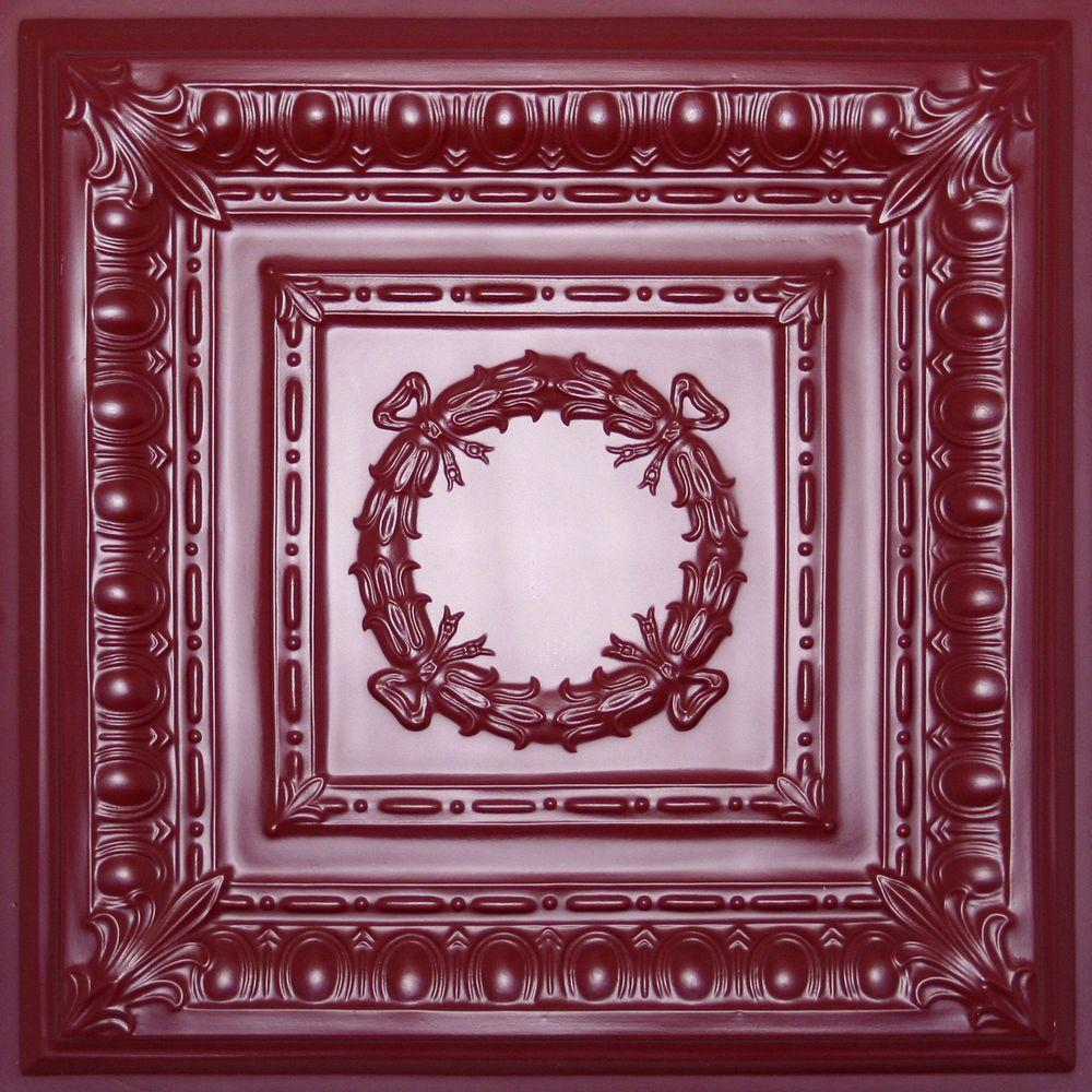 Ceilume Empire Merlot 2 ft. x 2 ft. Lay-in or Glue-up Ceiling Panel (Case of 6)