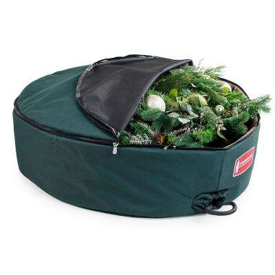 60 in. Foam Lined Green Wreath Keeper with Removeable Handle